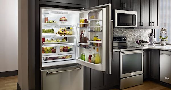 The New, Trendy Bottom-Freezer Refrigerator